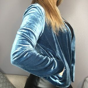 Gentle Fawn Chester velvet jacket in Imperial blue